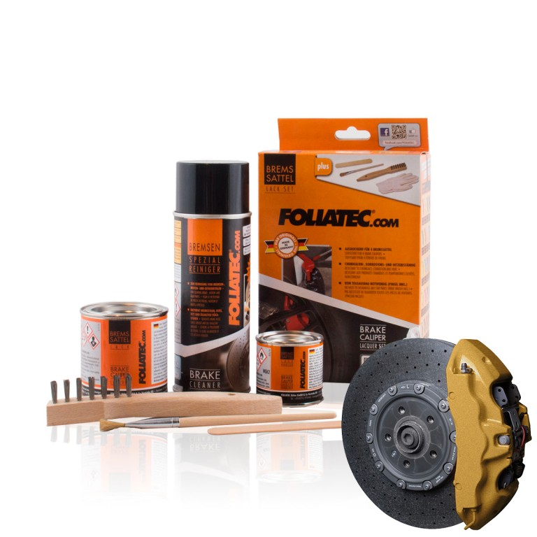 Foliatec Brake Caliper Lacquer Set, prestige gold metallic. Manufacturer product no.: 2165